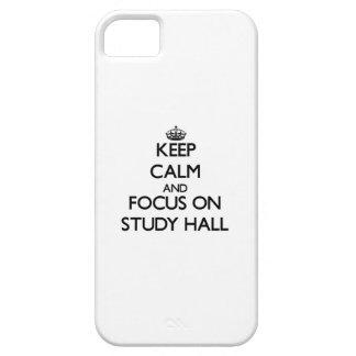 Guarde la calma y el foco en sala de estudio iPhone 5 coberturas