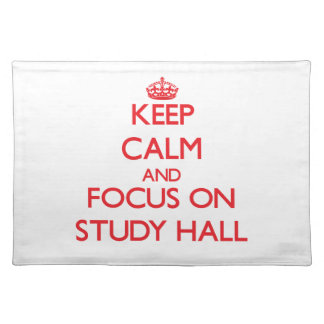 Guarde la calma y el foco en sala de estudio mantel