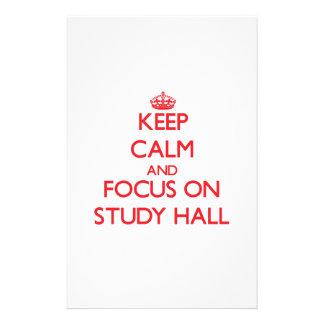 Guarde la calma y el foco en sala de estudio papeleria personalizada