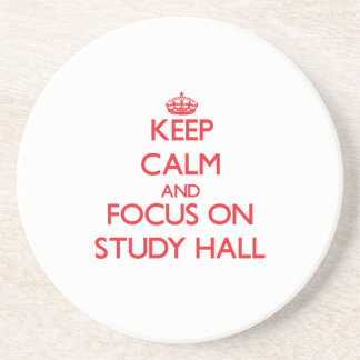 Guarde la calma y el foco en sala de estudio posavasos manualidades