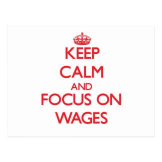 Guarde la calma y el foco en salarios postal