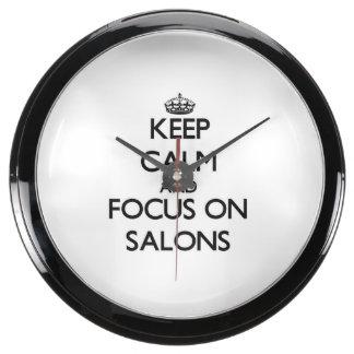 Guarde la calma y el foco en salones relojes aquavista