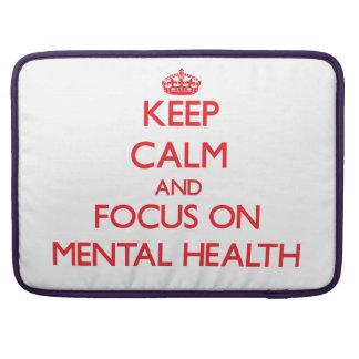 Guarde la calma y el foco en salud mental funda macbook pro
