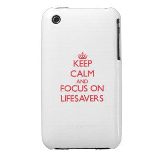 Guarde la calma y el foco en salvaciones iPhone 3 Case-Mate fundas