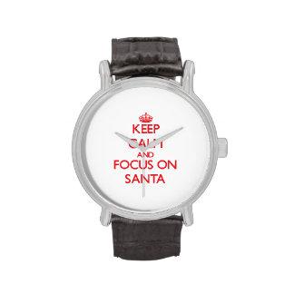 Guarde la calma y el foco en Santa Relojes
