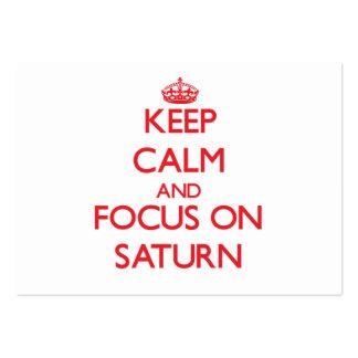 Guarde la calma y el foco en Saturn