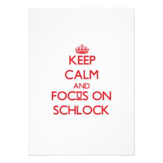Guarde la calma y el foco en Schlock Comunicado Personalizado