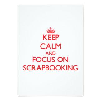 Guarde la calma y el foco en Scrapbooking