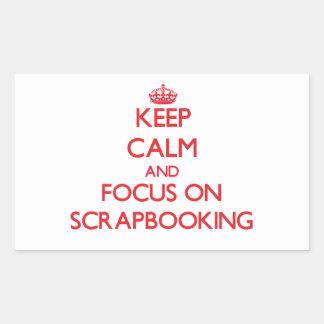 Guarde la calma y el foco en Scrapbooking Rectangular Altavoces