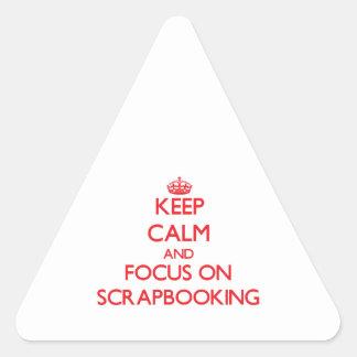 Guarde la calma y el foco en Scrapbooking Calcomania De Trianguladas