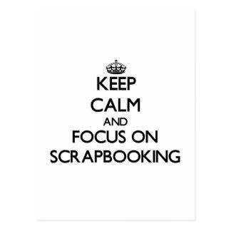 Guarde la calma y el foco en Scrapbooking Tarjetas Postales