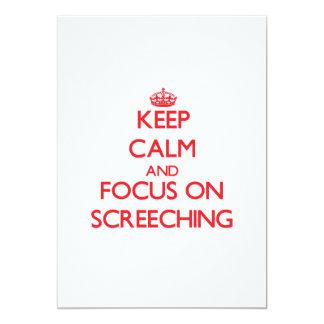 Guarde la calma y el foco en Screeching Invitación 12,7 X 17,8 Cm