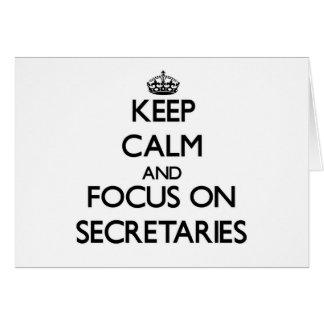 Guarde la calma y el foco en secretarias felicitaciones