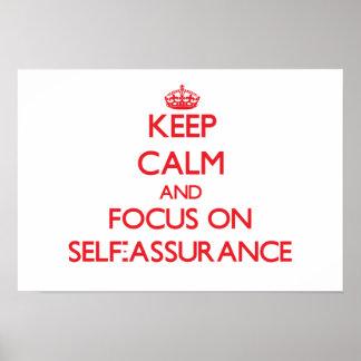 Guarde la calma y el foco en seguridad en sí mismo