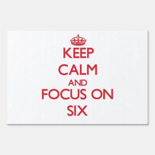 Guarde la calma y el foco en seis