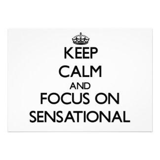 Guarde la calma y el foco en sensacional