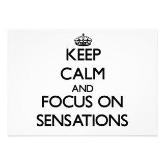 Guarde la calma y el foco en sensaciones