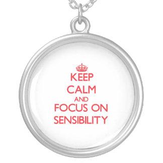 Guarde la calma y el foco en sensibilidad pendiente