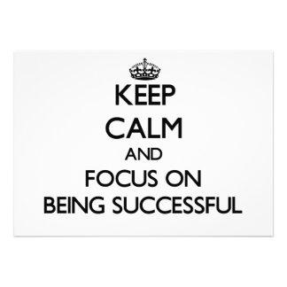 Guarde la calma y el foco en ser acertado