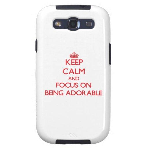 Guarde la calma y el foco en SER ADORABLE Galaxy S3 Cárcasas