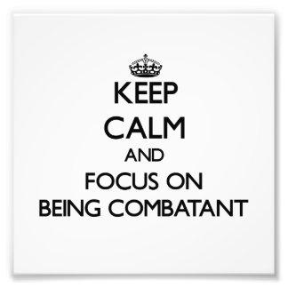 Guarde la calma y el foco en ser combativo fotos