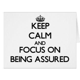 Guarde la calma y el foco en ser confiado