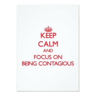 Guarde la calma y el foco en ser contagioso invitaciones personales