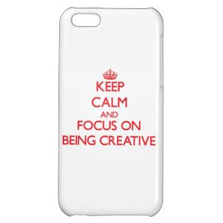 Guarde la calma y el foco en ser creativo