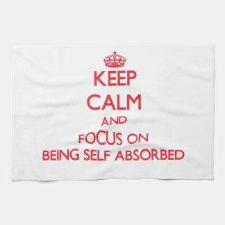 Guarde la calma y el foco en ser de auto-absorción toalla de cocina