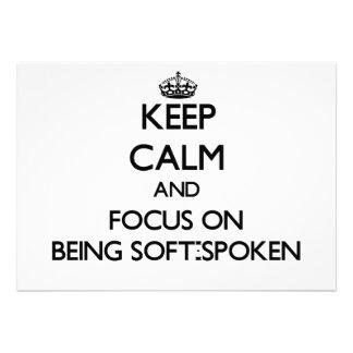 Guarde la calma y el foco en ser de tono suave anuncios