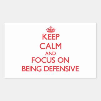 Guarde la calma y el foco en ser defensivo rectangular altavoz