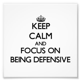 Guarde la calma y el foco en ser defensivo cojinete