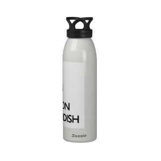 Guarde la calma y el foco en ser diabólico botella de agua reutilizable