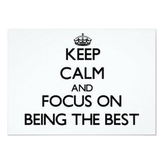 """Guarde la calma y el foco en ser el mejor invitación 5"""" x 7"""""""
