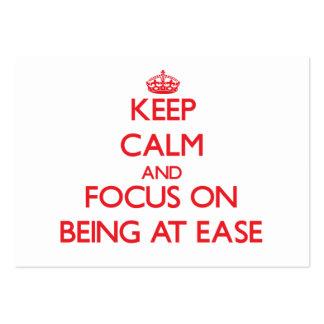 Guarde la calma y el foco en SER EN LA FACILIDAD Tarjetas Personales