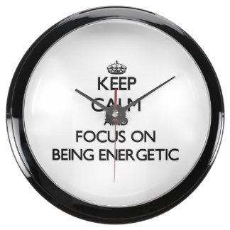 Guarde la calma y el foco en SER ENÉRGICO Relojes Acuario