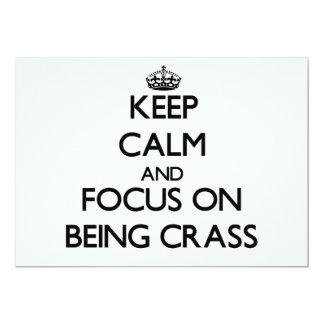 Guarde la calma y el foco en ser espeso invitacion personalizada