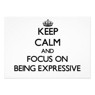 Guarde la calma y el foco en SER EXPRESIVO Comunicados Personalizados