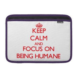 Guarde la calma y el foco en ser humano
