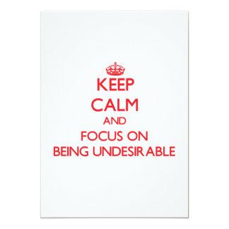 Guarde la calma y el foco en ser indeseable invitacion personalizada