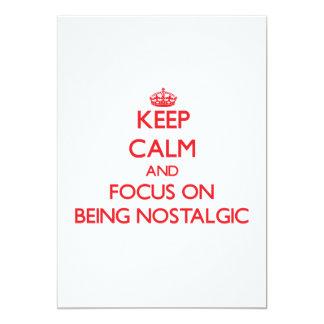 Guarde la calma y el foco en ser nostálgico invitacion personal
