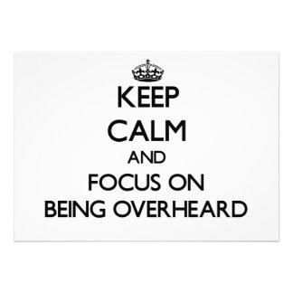 Guarde la calma y el foco en ser oído por casualid comunicados personales