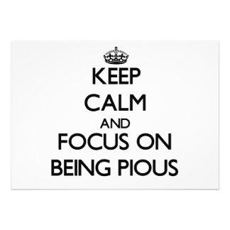 Guarde la calma y el foco en ser piadoso