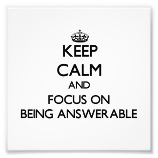 Guarde la calma y el foco en ser responsable fotografía