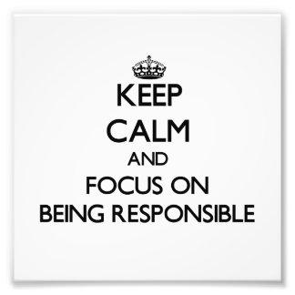 Guarde la calma y el foco en ser responsable foto