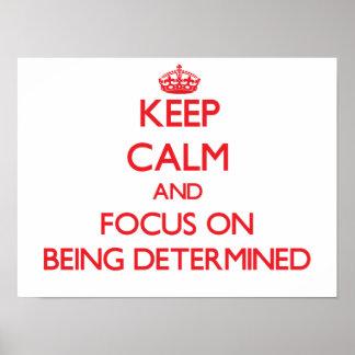Guarde la calma y el foco en ser resuelto