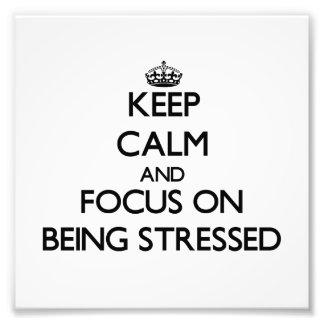 Guarde la calma y el foco en ser subrayado