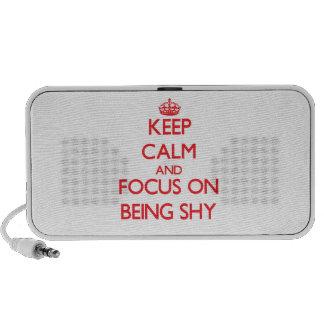 Guarde la calma y el foco en ser tímido PC altavoces