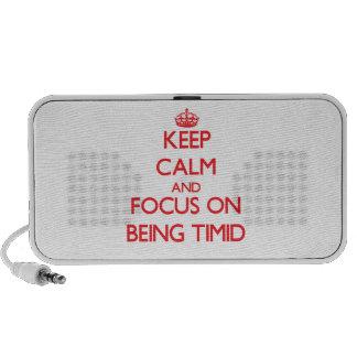Guarde la calma y el foco en ser tímido iPod altavoz