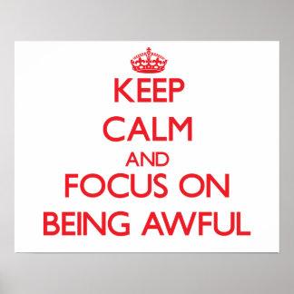 Guarde la calma y el foco en SER TREMENDO